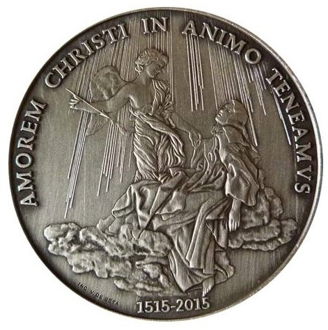 VATICAN 2015 POPE FRANCIS MEDAL YEAR III SILVER