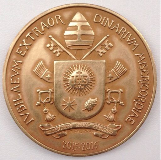 VATICAN 2016 POPE FRANCIS MEDAL YEAR IV BRONZE