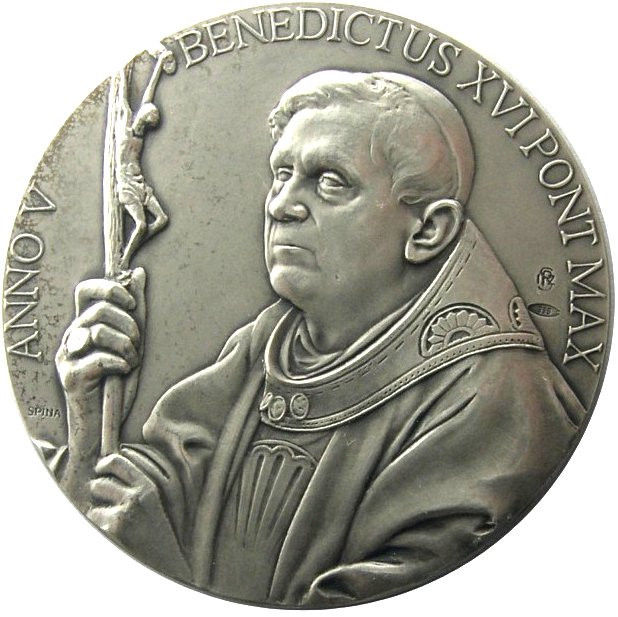 VATICAN 2009 POPE BENEDICT XVI MEDAL YEAR V SILVER