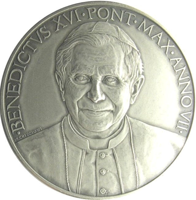 VATICAN 2011 POPE BENEDICT XVI MEDAL YEAR VII SILVER