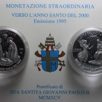 VATICAN 1995 DIPTYCH LIRE 10000 SILVER COMMEMORATIVE PROOF