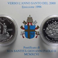 VATICAN 1996 DIPTYCH LIRE 10000 SILVER COMMEMORATIVE PROOF
