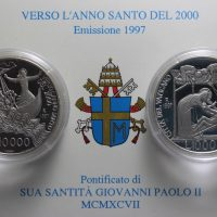 VATICANO 1997 DITTICO LIRE 10000 ARGENTO COMMEMORATIVE PROOF