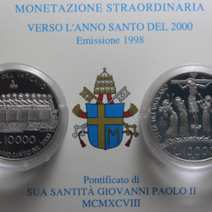 VATICAN 1998 DIPTYCH LIRE 10000 SILVER COMMEMORATIVE PROOF
