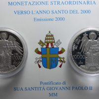 VATICANO 2000 DITTICO LIRE 10000 ARGENTO COMMEMORATIVE PROOF
