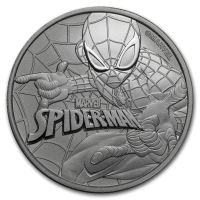 2017 TUVALU 1 oz Silver Marvel series SPIDER MAN 1 dollar FDC