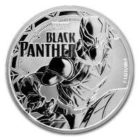 2018 TUVALU 1 oz Silver Marvel series BLACK PANTHER 1 dollar FDC