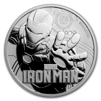 2018 TUVALU 1 OZ SILVER MARVEL SERIES IRON MAN 1 DOLLAR FDC
