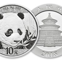 2018 CHINA 1 OZ SILVER PANDA 10 YUAN FDC
