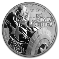 2019 TUVALU 1 OZ SILVER MARVEL SERIES CAPTAIN AMERICA 1 DOLLAR FDC