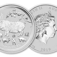 2019 AUSTRALIA 1 OZ SILVER LUNAR YEAR OF THE PIG 1 DOLLAR FDC