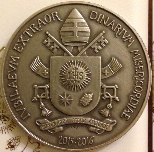 VATICAN 2016 POPE FRANCIS MEDAL YEAR IV SILVER (4)